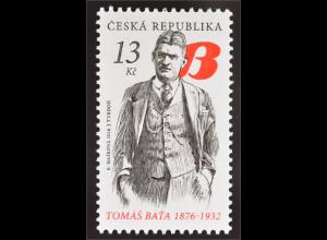 Tschechische Republik 2016 Michel Nr. 876 Tomáš Baťa 1876-1932 Schuhfabrikant