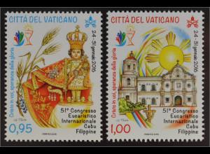 Vatikan Cittá del Vaticano 2016 Michel Nr.1865-66 Eucharistischer Weltkongress