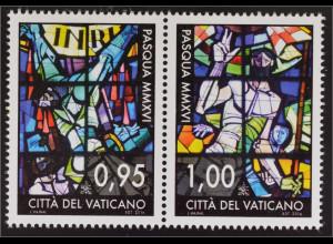 Vatikan Cittá del Vaticano 2016 Michel Nr.1863-64 Ostern Buntglasfenster Mailand