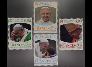 Vatikan Cittá del Vaticano 2016 Michel Nr.1859-62 Pontifikat Papst Franziskus