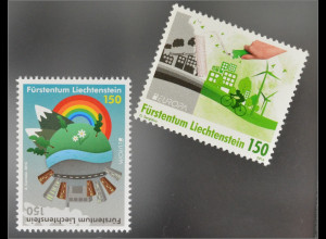Liechtenstein 2016 Nr. 1790-91 Europa Think Green Ökologie Umweltschutz