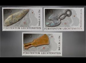 Liechtenstein 2016 Nr. 1795-97 Archäologische Fundstücke Gebrauchsgegenstände