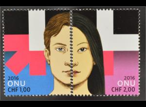 Vereinte Nationen UNO Genf 2016 Nr. 940-41 HeForShe Geschlechtergleichstellung
