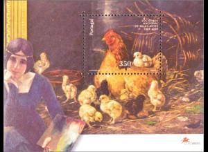 Portugal 2001 Block 167 100 Jahre Nationale Gesellschaft der Schönen Künste