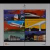 Portugal 2002 Block 179 Öffentliche Arbeit Schiff Eisenbahn Flugzeug Brückenbau