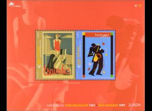 Portugal 2003 Block 185 Europa Plakatkunst Strand von Espinho