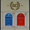 Dänemark Färöer 2016 Block 40 Jahre Postverkehr Foroyar Briefkasten