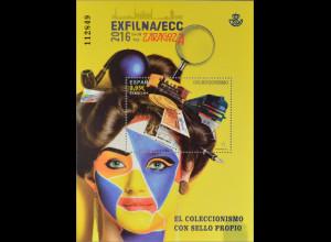 Spanien Spain España 2016 Block 274 Exfilna 2016 Sammeln Briefmarkenmesse