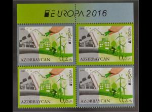 Aserbaidschan 2016 Nr. 1140-41 D Europa Think Green Ökologie Werte aus MH