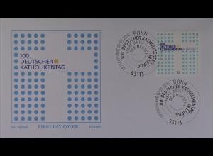 Bund BRD Ersttagsbrief FDC Michel Nr. 3239 2. Mai 2016 Deutscher Katholikentag