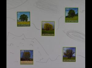 Liechtenstein 2016 Michel Nr. 1798-02 Freimarken Bäume Eiche Trauerweide Birke