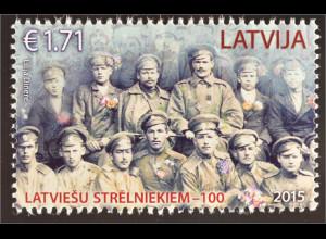 Lettland Latvia 2015 Nr. 965 Lettische Schützen Soldaten Krieg