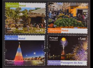 Madeira 2016 Michel Nr. 358-61Festa auf der Insel Madeira Weihnachten Neujahr