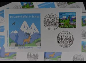Bund Ersttagsbrief FDC Nr. 3245 2. Juni 2016 Umweltschutz Die Alpen in Europa