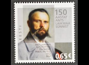 Estland Estonia 2016 Michel Nr. 860 150. Geburtstag von Ants Laikmaa Maler Kunst