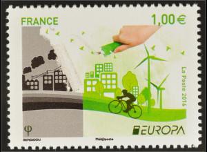 Frankreich France 2016 Michel Nr. 6439 Europa Think Green Umweltschutz Ökologie
