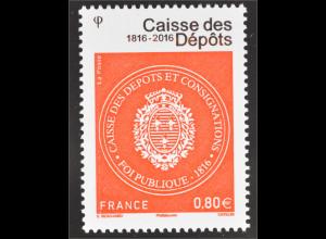 Frankreich France 2016 Nr. 6429 200 Jahre CDC Staatliches Finanzinstitut Emblem
