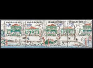 Macau 2003 Michel Nr. 1273-76 Architektonisches Erbe auf Taipa und Coloane