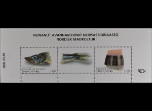 Grönland Greenland 2016 Block 76 Nordische Esskultur Norden Ausgaben