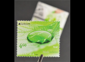 Kroatien Croatia 2016 Nr. 1228-29 Europa Think Green Ökologie Natur Umweltschutz