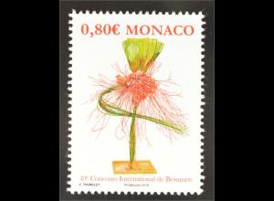 Monako Monaco 2016 Michel Nr. 3293 Internationaler Wettbewerb für Blumenbinderei