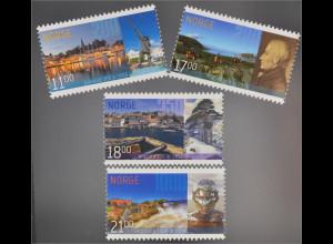 Norwegen Norway 2016 Nr. 1908-11 Stadtjubiläen 200 Jahre Grimsrad und Bodø