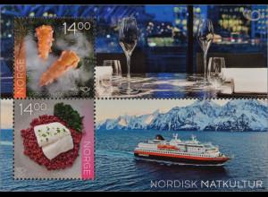 Norwegen Norway 2016 Nr. 1906-07 Nordische Esskultur Norden Kaisergranat Block