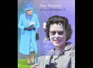 Süd Georgien und Südl. Sandwichinseln 2016 Block 27 Her Majesty Queen Elizabeth