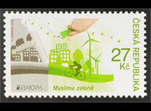 Tschechische Republik 2016 Nr. 882 Europa Think Green Umweltbewußt leben