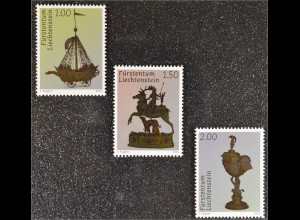 Liechtenstein 2016 Nr. 1803-05 Schätze Silberschmiedekunst Segeschiff Diana
