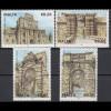 Malta 2012 Michel Nr. 1804-07 **, Historische Torbauten, ... siehe Beschreibung!