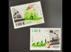 Estland Estonia 2016 Nr. 861-62 Europa Umweltbewußt leben Ökologie Think Green