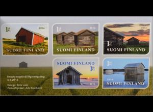 Finnland Finland 2016 MiNr. 2439-43 Finnische Scheunen Fotografie Markenheft