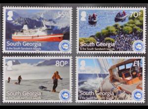 Süd Georgien Südl. Sandwichinseln 2016 Nr. 674-77 25. Jahrestag IAATO Schiffe