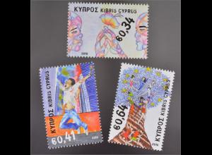 Zypern griechisch Cyprus 2016 Nr. 1350-52 Grundsätze Werte Europäischen Union