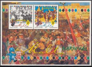 Karneval in Malta Karnevalistengruppen Block aus Malta 2001 Block Nr. 21