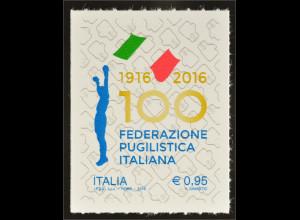 Italien Italy 2016 Michel Nr. 3884 Sport 100 Jahre Italienische Boxföderation