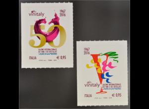 Italien 2016 Nr. 3888-89 Weinmesse Jahr 1967-2016 Rotwein Veronafiere
