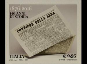 Italien Italy 2016 Michel Nr. 3885 140 Jahre Tageszeitung Corriere della Sera