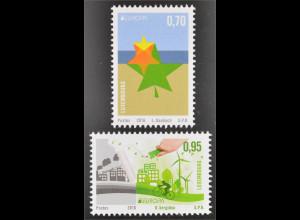 Luxemburg 2016 Nr. 2090-91 Europa Umwelt bewusst leben Ökologie Think Green