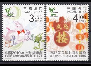 Macau 2010 Michel Nr. 1686-87 **, Weltausstellung EXPO 2010, Shanghai