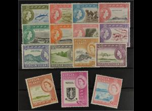 Britische Jungferninseln 1964 Michel Nr. 140-54 Freimarken Ansichten