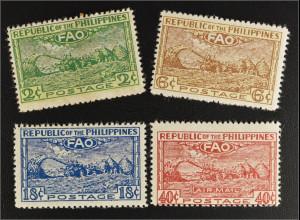 Philippinen 1948 Michel Nr. 483-86 Konferenz der FAO Ernährung Landwirtschaft