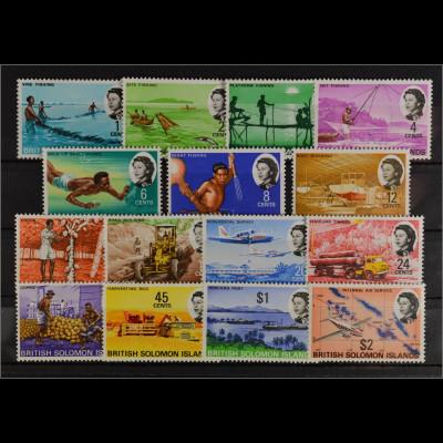 Salomoninseln Solomon Island Michel Nr. 167-81 Landwirtschaft und Verkehr
