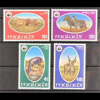 Malawi 1978 Nr. 297-00 WWF Weltweiter Naturschutz geschützte Wildtiere