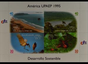 Costa Rica 1995 Michel Nr. 1451-54 Kleinbogen Amerika Naturschutz Jabiru