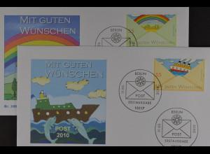 Bund BRD Ersttagsbrief FDC Michel Nr. 2786-87, Post: Grußmarken (I), 11.3.2010