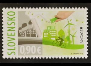 Slowakei Slovakia 2016 Nr. 789 Europa Think Green Ökologie Umweltbewusst leben