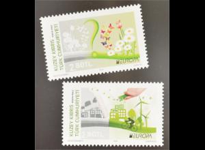 Zypern türkisch Cyprus Turkish 2016 Nr. 829-30 Europa Think Green Ökologie