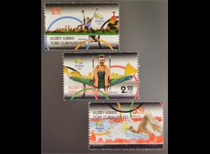 Zypern türkisch Cyprus Turkish 2016 Nr. 826-28 Olympische Spiele Rio de Janeiro